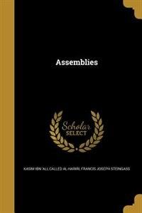 Assemblies by called al-Hariri Kasim ibn 'Ali