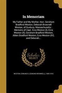 In Memoriam by Edmund B. (Edmund Brownell) 184 Weston