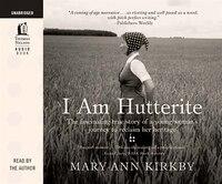 I am Hutterite: Audio Book on CD