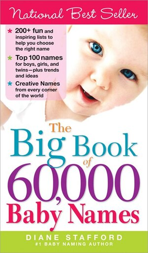The Big Book Of 60,000 Baby Names by Diane Stafford