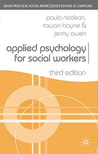 Applied Psychology For Social Workers