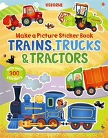 Make A Picture Sticker Book Trains, Trucks And Tractors