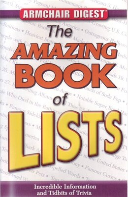 Book ARMCHAIR DIGEST AMAZING BK OF LISTS by The Editors Of From