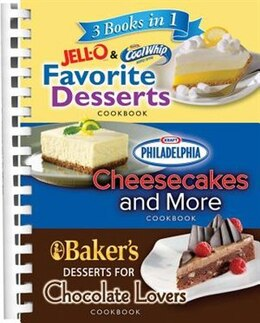Book 3 In 1 Jello Philadelphia Bakers Chocola by PUBLICATIONS INTERNATIONAL LTD
