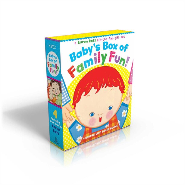 Baby's Box of Family Fun!: A 4-Book Lift-the-Flap Gift Set: Where Is Baby's Mommy?; Daddy and Me; Grandpa and Me, Grandma and by Karen Katz