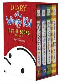 Book Diary Of A Wimpy Kid Box Of Books 1-4 by Jeff Kinney