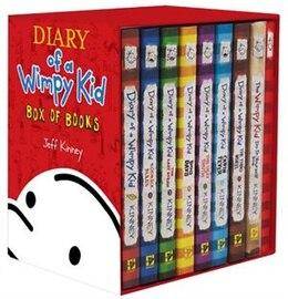 Book Wimpy Kid Box Of Books 1-7 + Diy + Journal by Jeff Kinney