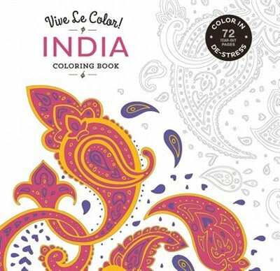 Vive Le Color! India (adult Coloring Book): Color In; De-stress (72 Tear-out Pages) by Abrams Noterie