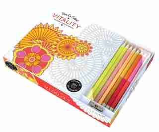 Vive Le Color! Vitality (adult Coloring Book And Pencils): Color Therapy Kit by Abrams Noterie