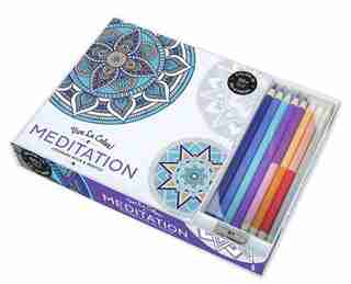 Vive Le Color! Meditation (adult Coloring Book And Pencils): Color Therapy Kit by Abrams Noterie