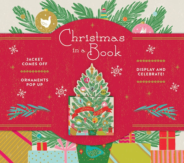 Christmas In A Book (uplifting Editions): Jacket Comes Off. Ornaments Pop Up. Display And Celebrate! by Allie Noterie