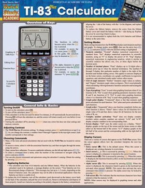 Ti-83 Plus Calculator by Inc. BarCharts, Inc.