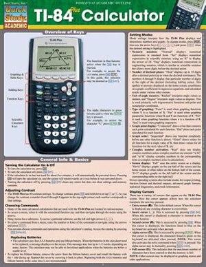 Ti 84 Plus Calculator by Inc. BarCharts, Inc.