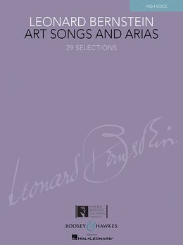 Book Art Songs and Arias: High Voice by Leonard Bernstein