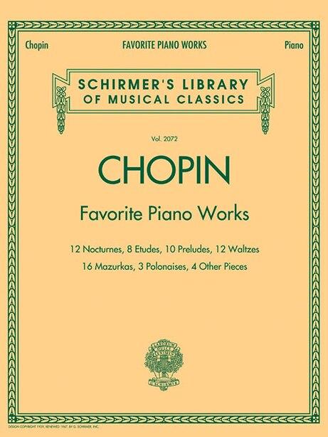 Favorite Piano Works: Schirmer Library of Classics Volume 2072