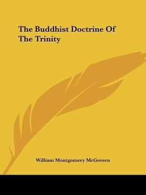The Buddhist Doctrine Of The Trinity