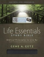 HCSB LIFE ESSENTIALS STUDY BIBLE, BLACK BONDED LEATHER INDEXED
