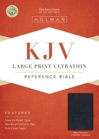Kjv Large Print Ultrathin Reference Bible, Black Genuine Leather Indexed by Holman Bible Staff