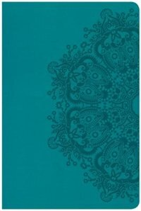 Csb Large Print Personal Size Reference Bible, Teal Leathertouch, Indexed by Holman Bible Staff
