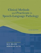 Clinical Methods And Practicum In Speech-language Pathology