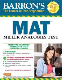 Barron's MAT, 12th Edition: Miller Analogies Test