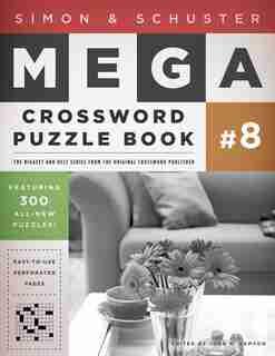 Simon & Schuster Mega Crossword Puzzle Book #8 by John M. Samson