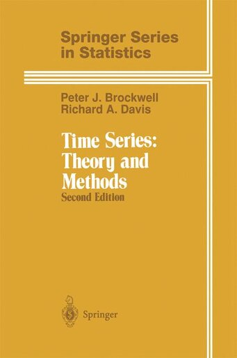 Time Series: Theory And Methods by Peter J. Brockwell