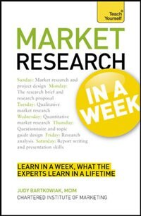 Book Market Research In A Week by Judy Bartkowiak