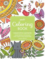 Posh Adult Coloring Book Inspired Garden Soothing Designs For Fun Relaxation