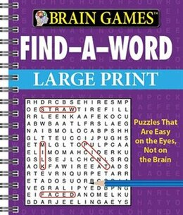 Book Brain Games Find A Word Large Print by Publications International