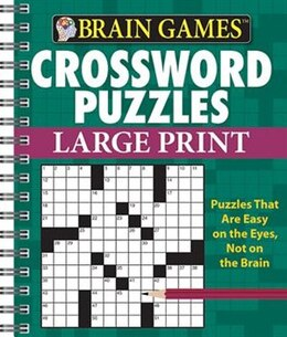 Book BRAIN GAMES LARGE PRINT XWORDS by The Editors Of From