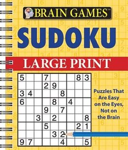Book Brain Games Sudoku Large Print by Publications International