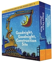Goodnight, Goodnight, Construction Site And Steam Train, Dream Train Board Books Boxed Set (board…