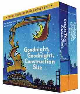 Goodnight, Goodnight, Construction Site And Steam Train, Dream Train Board Books Boxed Set (board Books For Babies, Preschool Books, Picture Books For Toddlers) by Sherri Duskey Rinker