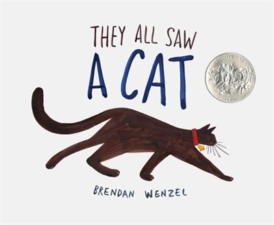 They All Saw A Cat (cat Books For Kids, Beginning Reading Books, Preschool Prep Books) by Brendan Wenzel