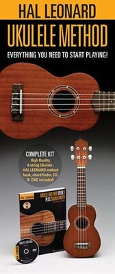 Book Hal Leonard Ukulele Starter Pack: Includes A Ukulele, Method Book With Online Audio, And Dvd by Lil' Rev