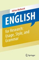 English For Research: Grammar, Usage And Style