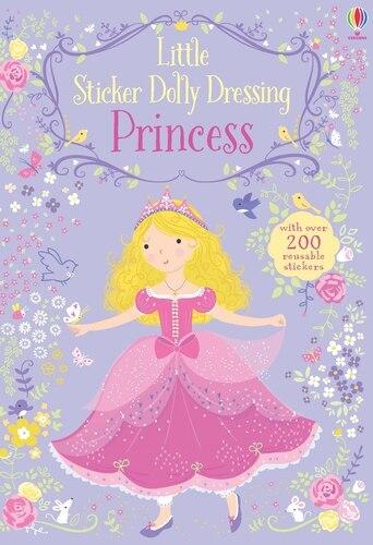 LITTLE STICKER DOLLY DRESSING PRINCESS by Fiona Watt