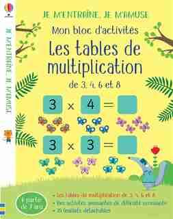 Les Tables De Multiplication (2,5,10) - Je M'entraine, Je M'amuse - Mon Bloc D'activites de ROSAMUND SMITH