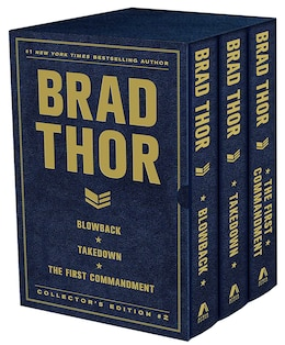 Book Brad Thor Collectors' Edition #2: Blowback, Takedown, and The First Commandment by Brad Thor