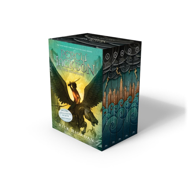 Percy Jackson And The Olympians 5 Book Paperback Boxed Set (new Covers W/poster) by Rick Riordan