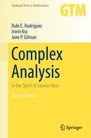 Complex Analysis: In the Spirit of Lipman Bers