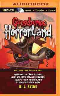 Goosebumps Horrorland Boxed Set #3: Welcome To Camp Slither, Help! We Have Strange Powers!, Escape From Horrorland, Streets Of Panic by R.l. Stine