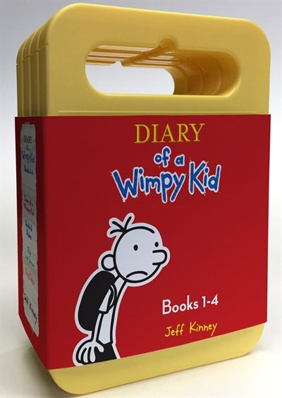 Diary Of A Wimpy Kid Boxed Set: Diary Of A Wimpy Kid, Rodrick Rules, The Last Straw, Dog Days by Jeff Kinney