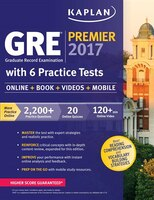 Book GRE Premier 2017 with 6 Practice Tests: Online + Book + Videos + Mobile by Kaplan