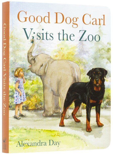 Good Dog Carl Visits The Zoo - Board Book by Alexandra Day