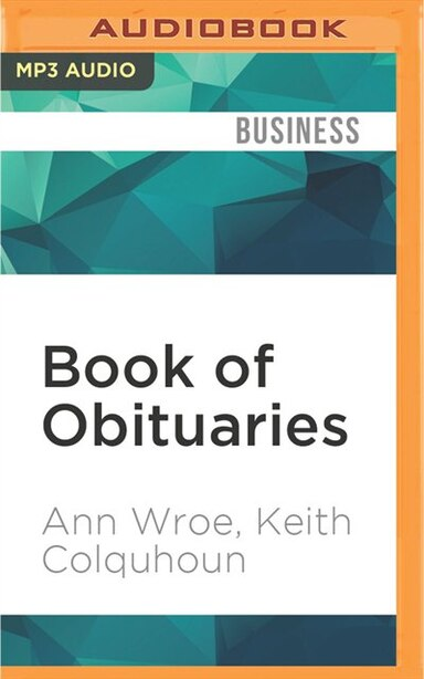 Book Of Obituaries by Ann Wroe