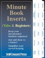 Minute Book Inserts: Tabs & Registers