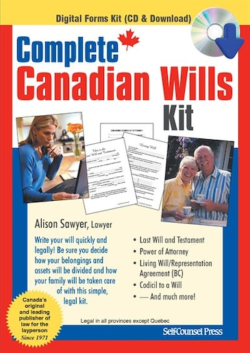 Complete canadian wills kit book by alison sawyer cd rom complete canadian wills kit by alison sawyer solutioingenieria Image collections