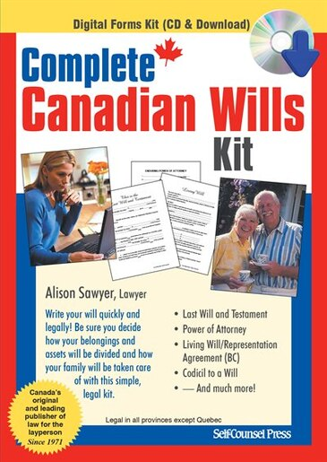 Complete canadian wills kit book by alison sawyer cd rom complete canadian wills kit by alison sawyer solutioingenieria Images